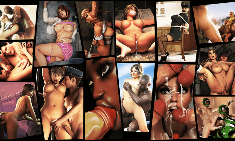 multiple screenshots of grand fuck auto porn game