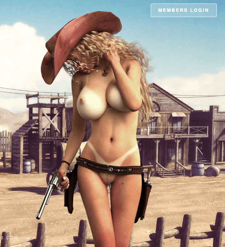 meetnfuck game cover character in cowboy hat