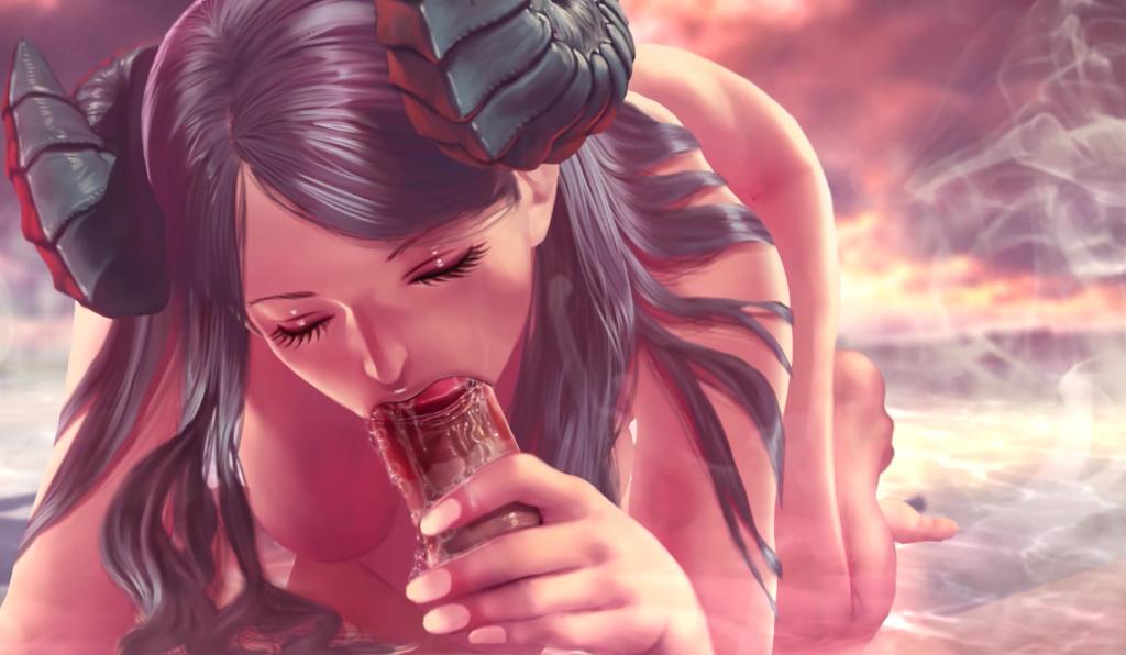 gameplay screenshot of blowjob scene