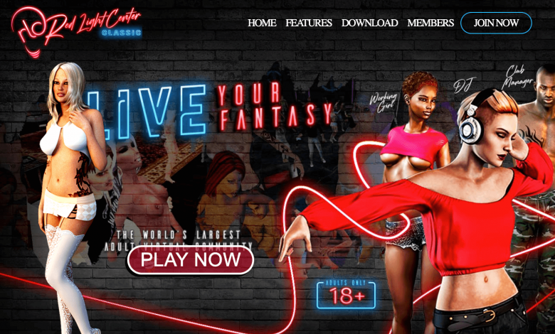 the home page of red light center
