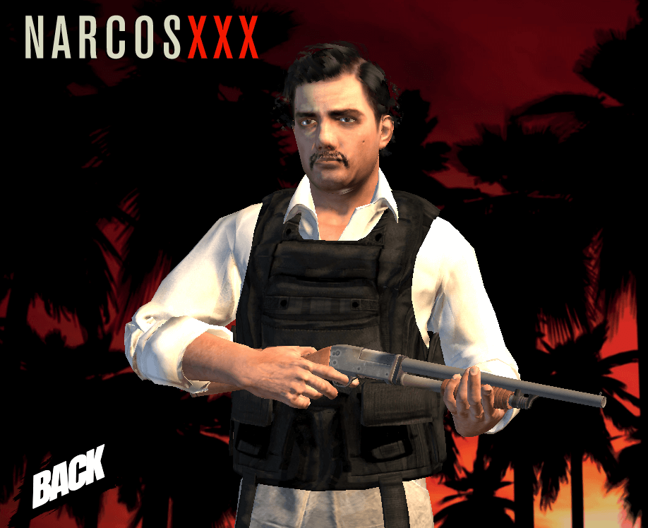pablo character in narcos xxx game