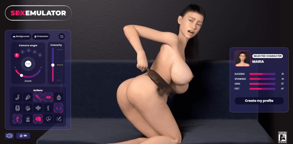 sexemulator character spank play