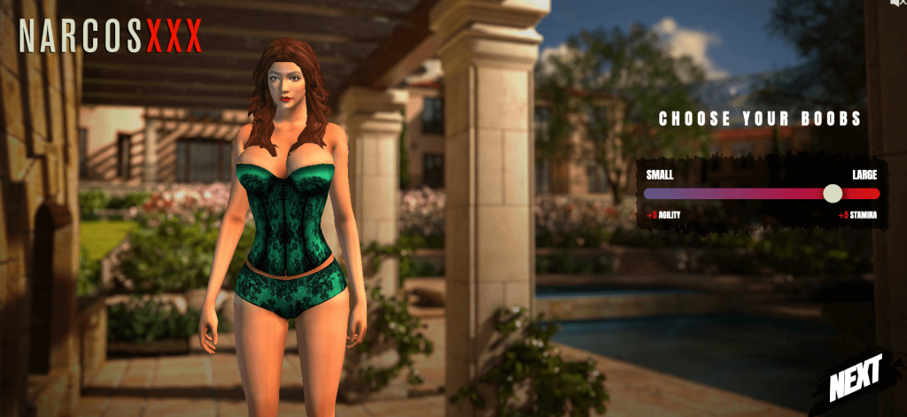 sexy adult game character from narcosxxx