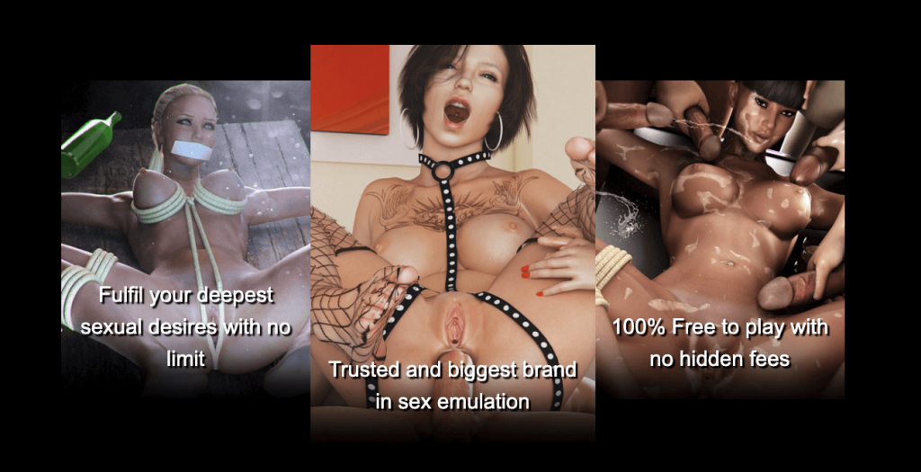 adult game sexsimulator three pictures showing bdsm play