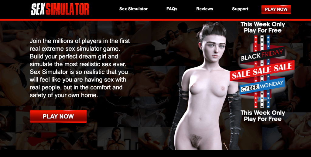 home page of sexsimulator the free meet n fuck game