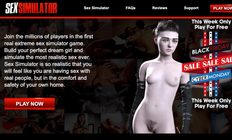 home page of sexsimulator