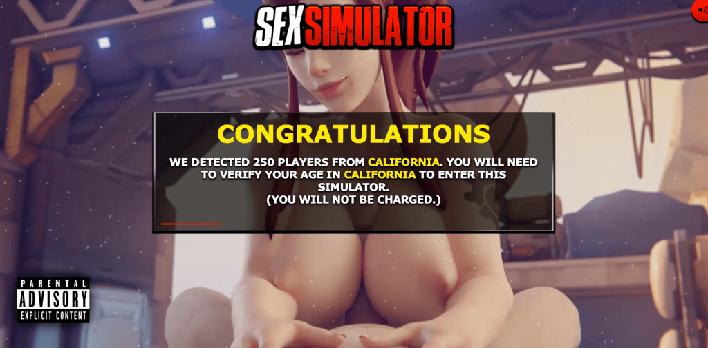 sexsimulator free sex game signup screen