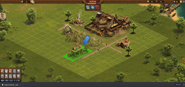 adding a building in forge of empires