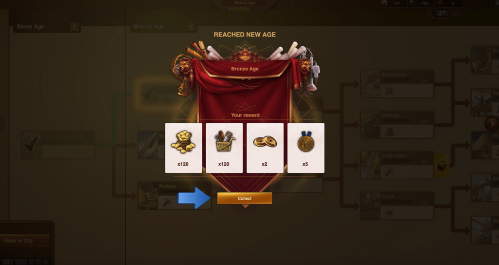 forge of empires level up and bonus